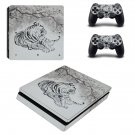 Tiger Clipart decal skin sticker for PS4 Slim console and controllers