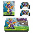 Spyro reignited trilogy decal skin sticker for Xbox One X console and controllers