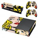 Roy Lichtenstein decal skin sticker for Xbox One console and controllers