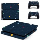 Space Clipart decal skin sticker for PS4 console and controllers