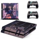 Cartoon decal skin sticker for PS4 console and controllers