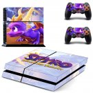 Spyro decal skin sticker for PS4 console and controllers