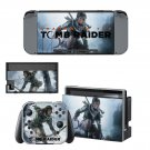 Tomb Raider decal skin sticker for Nintendo Switch console and controllers
