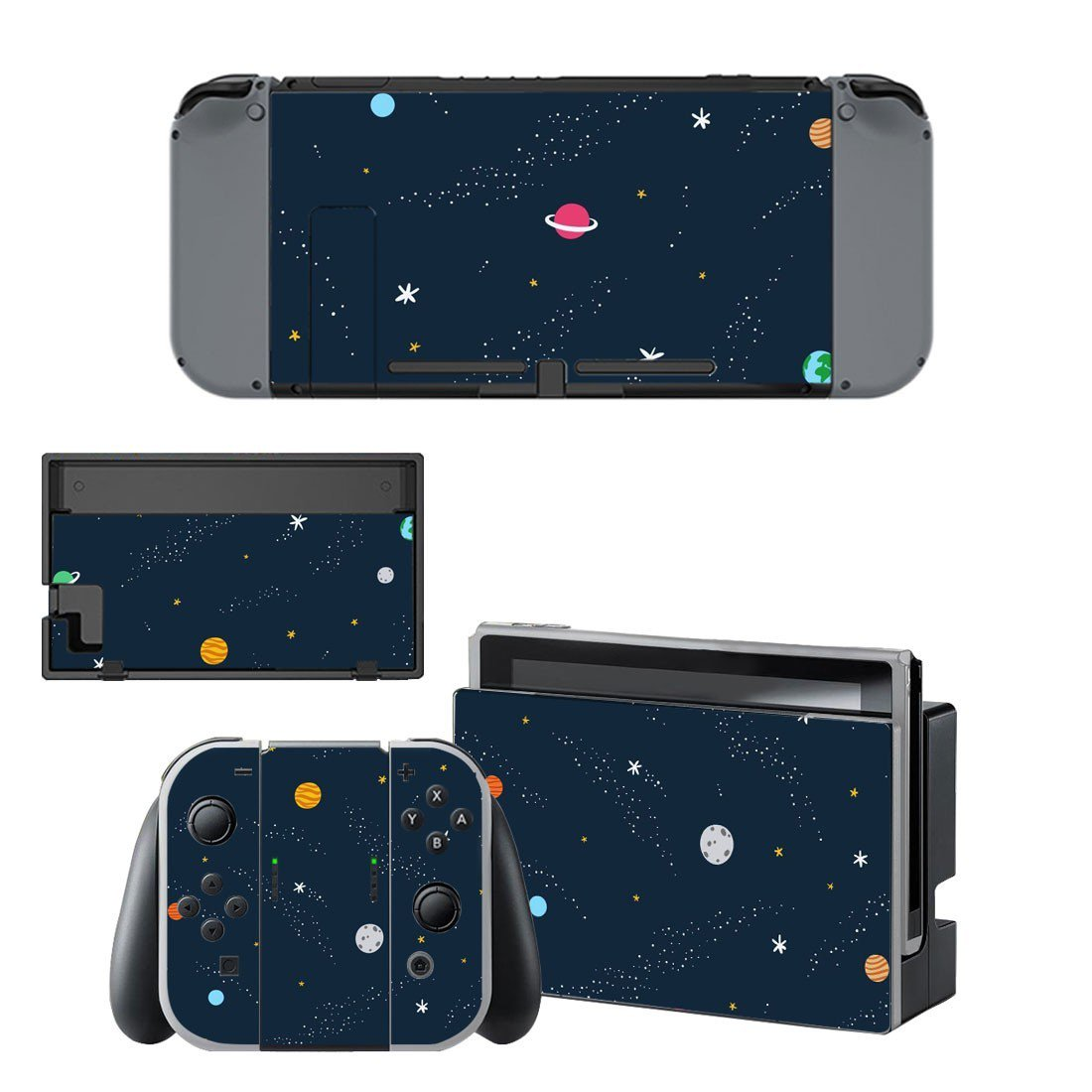 Space Clipart decal skin sticker for Nintendo Switch console and controllers