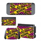 Warning decal skin sticker for Nintendo Switch console and controllers