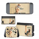 Pin Up Girl decal skin sticker for Nintendo Switch console and controllers