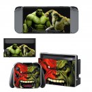 Green Hulk decal skin sticker for Nintendo Switch console and controllers