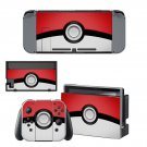 Pokemon Pokeball  decal skin sticker for Nintendo Switch console and controllers