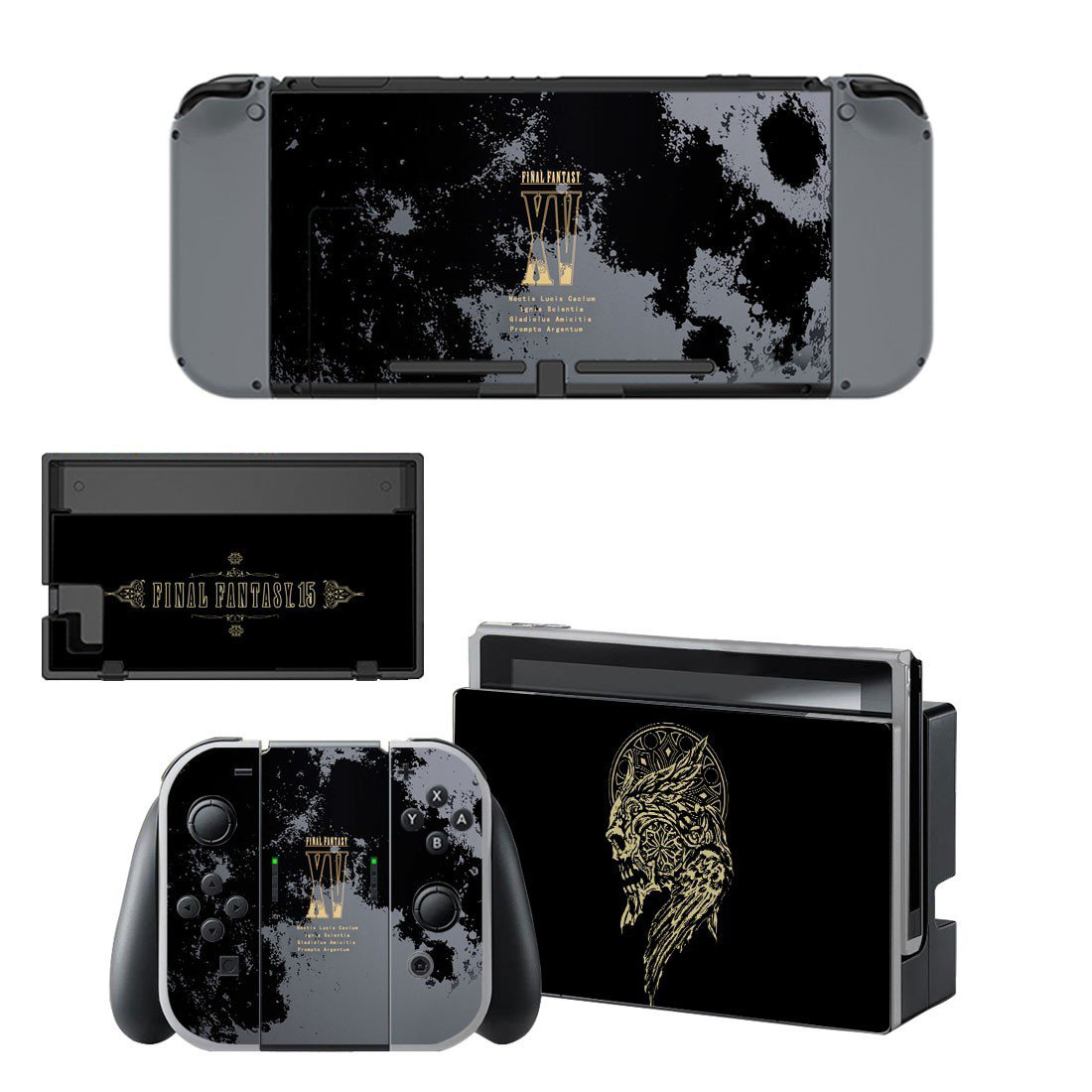 Final Fantasy 15 decal skin sticker for Nintendo Switch console and controllers