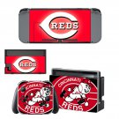 Cincinnati Reds decal skin sticker for Nintendo Switch console and controllers