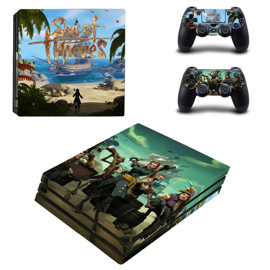 Sea of Thieves decal skin sticker for PS4 Pro console and controllers