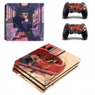 Cartoon decal skin sticker for PS4 Pro console and controllers