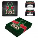 Milwaukee Bucks decal skin sticker for PS4 Pro console and controllers