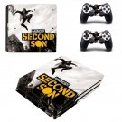 Second Son decal skin sticker for PS4 Pro console and controllers