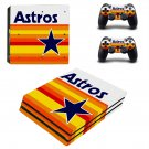 Houston Astros decal skin sticker for PS4 Pro console and controllers