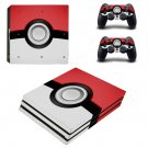 Pokemon Pokeball decal skin sticker for PS4 Pro console and controllers