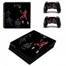 Jordan 23 decal skin sticker for PS4 Pro console and controllers