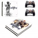 Kingdom Hearts 3 decal skin sticker for PS4 Pro console and controllers