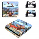 Super Smash Bros decal skin sticker for PS4 Slim console and controllers