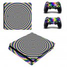 Abstraction decal skin sticker for PS4 Slim console and controllers