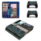 Cartoon decal skin sticker for PS4 Slim console and controllers