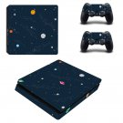 Space Clipart decal skin sticker for PS4 Slim console and controllers