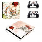Okami game decal skin sticker for PS4 Slim console and controllers