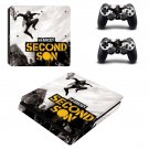 Second Son decal skin sticker for PS4 Slim console and controllers