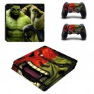 Green Hulk decal skin sticker for PS4 Slim console and controllers