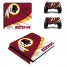 The Washington Redskins decal skin sticker for PS4 Slim console and controllers