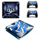 New york yankees decal skin sticker for PS4 Slim console and controllers