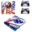 Buffalo Bills decal skin sticker for PS4 Slim console and controllers