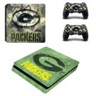 Green bay packers decal skin sticker for PS4 Slim console and controllers