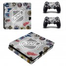 Edmonton Oilers decal skin sticker for PS4 Slim console and controllers