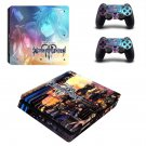 Kingdom Hearts decal skin sticker for PS4 Slim console and controllers