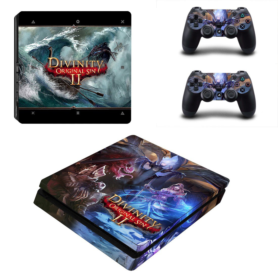 Divinity Original Sin 2 decal skin sticker for PS4 Slim console and controllers