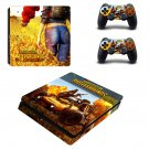 Playerunknown's Battlegrounds decal skin sticker for PS4 Slim console and controllers