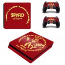 Spyro The Dragon decal skin sticker for PS4 Slim console and controllers