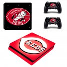 Cincinnati Reds decal skin sticker for PS4 Slim console and controllers
