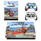 Super Smash Bros decal skin sticker for Xbox One X console and controllers