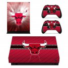 Chicago Bulls decal skin sticker for Xbox One X console and controllers