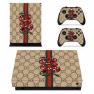 Snake anime decal skin sticker for Xbox One X console and controllers