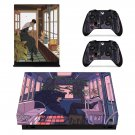 Cartoon decal skin sticker for Xbox One X console and controllers