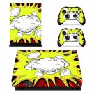 Abstract Retro Burst decal skin sticker for Xbox One X console and controllers
