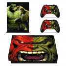 Green Hulk decal skin sticker for Xbox One X console and controllers