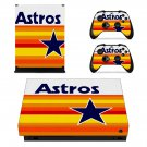 Houston Astros decal skin sticker for Xbox One X console and controllers