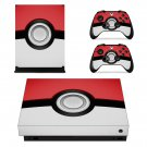 Pokemon Pokeball  decal skin sticker for Xbox One X console and controllers