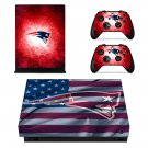 New England Patriots decal skin sticker for Xbox One X console and controllers
