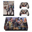 Fortnite horde bash decal skin sticker for Xbox One X console and controllers
