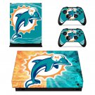 Miami dolphins decal skin sticker for Xbox One X console and controllers